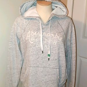 Abercrombie & Finch light gray track suit